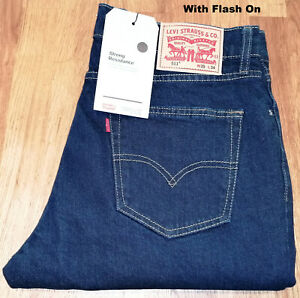 LEVIS 511 Original Slim Fit Stretch Denim Riveted Indigo Jeans 04511-2499