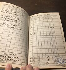 1957-1958 Aviators Flight Log Book, Valiquet, Usnr Us Navy