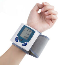 LCD Digital Wrist Blood Pressure Heart Rate Beat Monitor Pulse Meter Measure US
