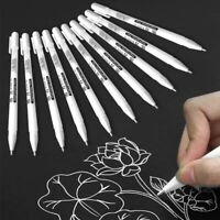 5/10Pcs White Gel Ink Marker Pen Sketching Painting Drawing Pens Stationery Art