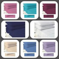 Plain Dyed Polycotton Fitted Bed Sheets Easy Care Super Soft Cotton Fitted Sheet