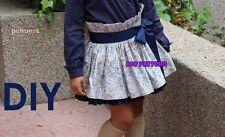 PDF FILE SEWING PATTERN TWIRL SKIRT Baby Girls 1-10 years **SPANISH DESIGN**