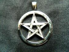 925 Sterling Silver LARGE  PENTAGRAM PENDANT /Pagan/Wicca/Witch/Witch/Magick