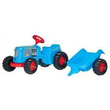 Rolly Toys Classic Trac mit Anhänger ohne Frontlader Traktor Trettraktor blau