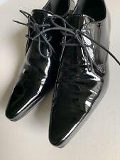 Linea Para hombre Zapatos De Encaje 8UK PVP: £ 120 Negro Inteligente Informal Traje Corbata Boda