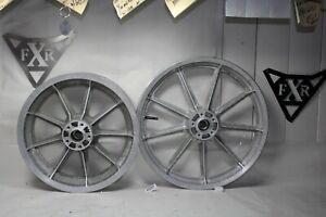 """Harley 19"""" + 16"""" silver mag wheels FXR Dyna XL FXRT FXRP FXRD FXDL 1999 EPS22618"""