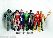 7 pcs DC Universe Justice League action Figures Batman Superman Flash Aquaman