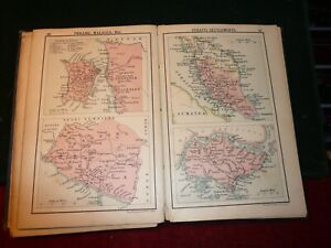 Handy atlas of the British empire . Filled with maps . Circa 1910 By Bartholomew