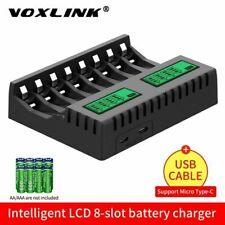 8 Slot LCD Display Smart Battery Charger For AA/AAA NiCd NiMh Rechargeable