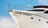Boat Name X 2 - Vinyl Stickers Names Custom Decals Waterproof Graphics Nautical