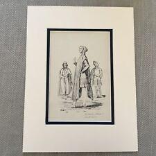 1900 Antique Print Historical Fashion Costume Tudor England King William II