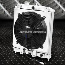 For 94-00 Eg/Eh/Ej/Em/Dc Mt 2-Row Aluminum Core Racing Radiator+12V Fan Shroud