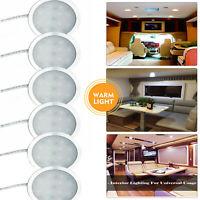 6Pcs 12V LED Spot Light Ceiling Lamp Caravan Camper Boat Light 3000K Warm white