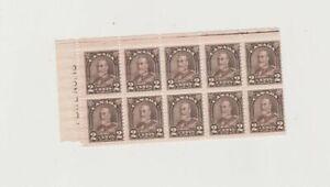 166 block of ten. MNH.  Plate block.