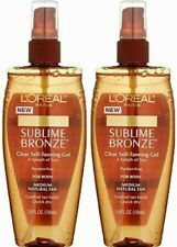 2 Loreal Sublime Bronze Clear Self Tanning Gel Medium Natural Tan 2 Pack 5 oz