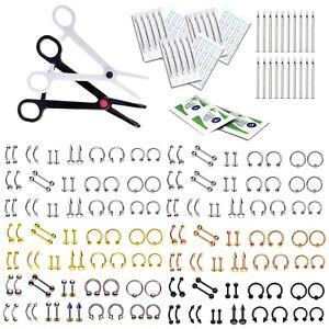 BodyJ4You 200-400PC Professional Body Piercing Kit 14G 16G Big Jewelry Set