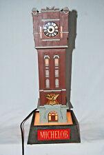 Vintage Michelob Clock Tower Beer Advertising - Light & Clock Work