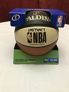 "Spalding NBA Instinct Composite Leather 29.5"" Basketball Orange/Black/Cream NEW"