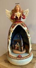 Jim Shore Child of Mary Nativity Lighted Revolving Musical Angel/Star 4012675