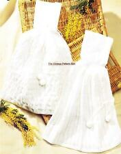 BABY CARRYING CAPES / birth to 6 months -  4ply- COPY baby knitting pattern