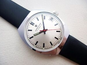 BEAUTIFUL NOS GERMAN JUNGHANS MAX BILL DESIGN VINTAGE WRISTWATCH FROM 1970'S!