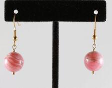 Earrings 14k gf Gold Hook Earwire Greenwood Designs Fair Trade Pink Rhodocrosite