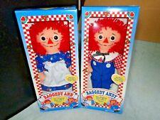"NEW MIB VTG 1996 JOHHNY GRUELLE RAGGEDY ANN & ANDY 12"" DOLLS IN ORIGINAL BOX"
