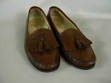 FLORSHEIM MEN TASSEL KILTY LOAFERS BROWN LEATHER SIZE 10 D 13192
