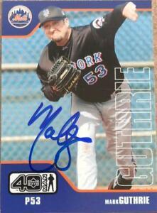 Mark Guthrie Autographed 2002 Upper Deck 40 Man #829