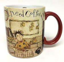 Lang I Need Coffee Now! Mug Cup Secretary Office Desk Job Dan DiPaolo Artwork