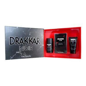 Guy Laroche Drakkar Noir EDT Spray 100ml + Deo Stick 75g + Shower Gel 50ml Men G