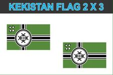 Set of 2 SMALL 'Kekistan' Laminated Decals 1st Ammendment Protection Laminated
