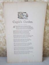 Vintage Print,CUPIDS GARDEN,Real Sailor Songs,1891