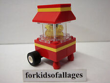 Lego Popcorn Popper Machine Movie Theater Mall Kiosk Street Food Stand City Town