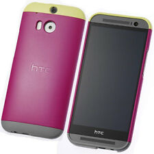 NEW HTC C940 HTC ONE M8 DOUBLE DIP HARD SHELL CASE COVER 99H11437 - PINK YELLOW