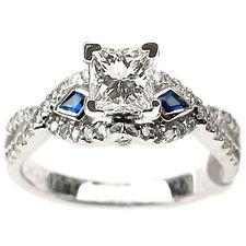 .90CT D VVS DIAMOND & BLUE SAPPHIRE ENGAGEMENT RING