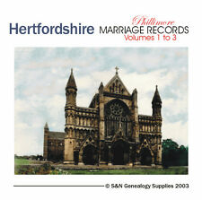 Hertfordshire Parish Registers - Complete Phillimore Marriage Records