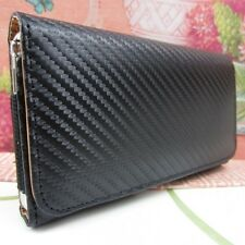 Carbon Fiber Premium Leather Belt Clip Case for Samsung Galaxy Note III 3 N9000