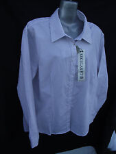 BNWT Womens Sz 18 Rivers Brand Regular Fit Mocha/Stripe Long Sleeve Shirt RRP$30