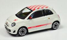 Abarth Fiat 500 Blanco- Rojo escala 1:43 De Bburago street fire