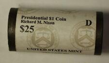 2016-D Richard M. Nixon Presidential Dollar Roll BU 25 1$ Coins Bank Wrapped OBW
