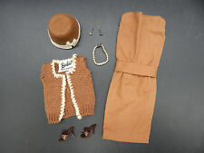 1962 vintage Mattel Barbie SORORITY MEETING outfit 937 complete jewelry vest !!!