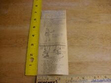 How to make your Dawn doll walk instruction sheet Topper Vintage 1960s