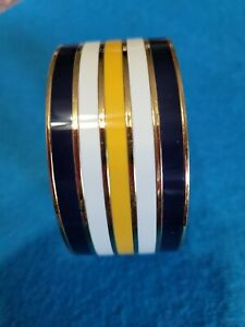 """KATE SPADE ♤ NEW YORK IDIOM BANGLE """"READ BETWEEN THE LINES"""" STRIPES HARD TO FIND"""