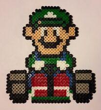 Luigi kart (Mario) - Bead sprite perler pixel art - Perles à repasser
