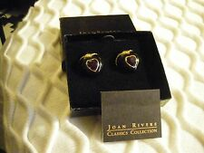 Never Out Of The Box, Mint Joan Rivers Heart-Shaped Faux Stone Earrings,