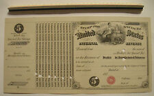 "1873 $5 US Internal Revenue Stamp for Dealer in Manufactured Tobacco 14""x 7 1/8"""
