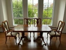 1959 Macy'S Double Pedestal Table And Chairs Set + American Drew Buffet