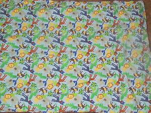"""Baby Essentials 39""""x29"""" 100% cotton animal blanket NWOT"""