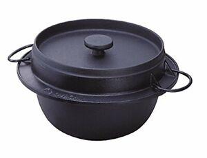 Rock casting Iwachu Rice pot 5 go cooking Inner surface enamel Nanbu Tekki 21086